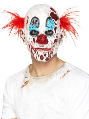 Zombie Clown Mask, Foam Latex