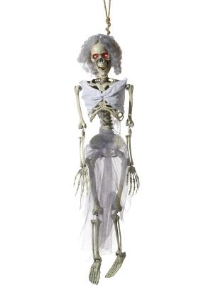 Animēta līgavas skeleta dekorācija, 90 cm
