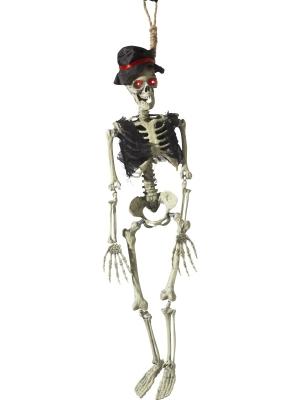Animēta līgavaiņa skeleta dekorācija, 90 cm