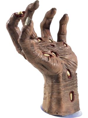 Zombija puvušas ādas plauksta, 21 x 10 cm