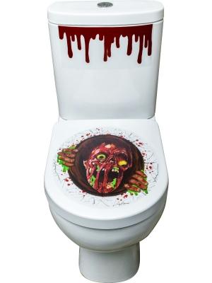 Zombija tualetes poda uzlīmes, 41 cm x 48 cm