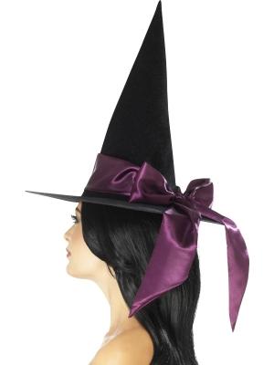 Шапка ведьмы, с фиолетовым бантом