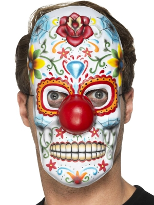 Day of the Dead Clown Mask