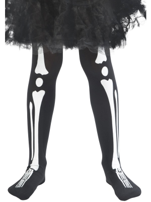 Skeleton Tights, Child, (6-12 age)