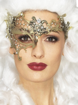 Филигранная маска, металлическая