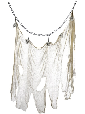 Hanging Skull & Muslin Chain Decoaration