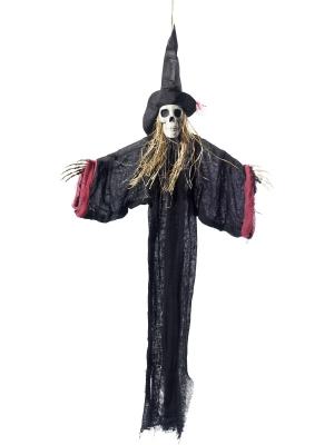 Raganas skeleta dekorācija, 70 x 90 cm