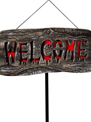 Mirgojoša zīme Welcome, 25 x 50 cm