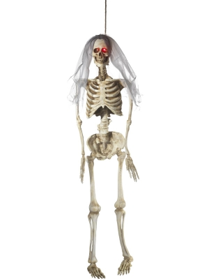 Light Up Latex Hanging Bride Skeleton Decoration, 170 cm