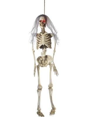 Skeleta līgavas dekorācija, mirgo acis, 170 cm