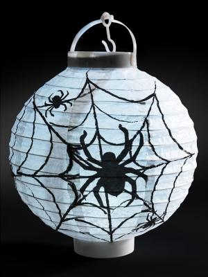 Light Up LED Paper Spider Web Lantern, 20 x 7 x 22 cm