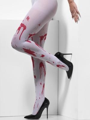 Колготки, белые с пятнами крови