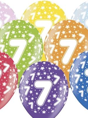 6 gab, Balons ar skaitli 7, 30 cm