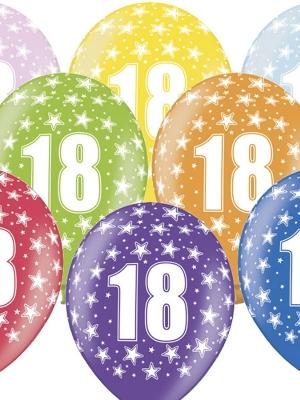 6 gab, Balons ar skaitli 18, 30 cm