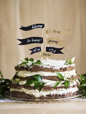 7 шт, Топперы для торта, флажки, 8-20 см
