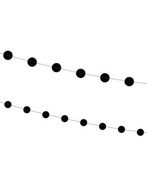 2 gab, Virtene Apļi, melna, 180 cm