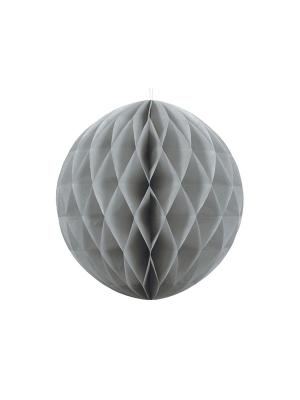 Papīra bumba, pelēks, 40 cm