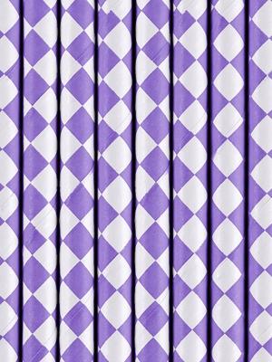 10 gab, Salmiņi, lilā rombi, 19.5 cm