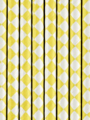10 gab, Salmiņi, dzelteni rombi, 19.5 cm
