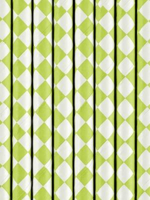 10 gab, Salmiņi, zaļi rombi, 19.5 cm
