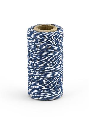 Krāsaina aukla, baltā ar zilu, 50 m
