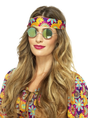 Hipiju brilles, spoguļstiklu