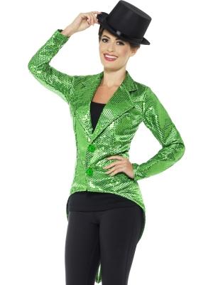 Vizuļojoša žakete, zaļa