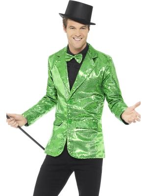 Блестящий жакет, зеленый