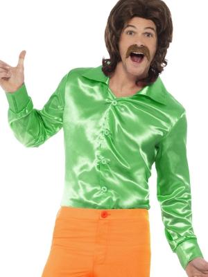 Рубашка 60-х, зеленая