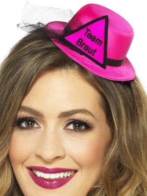 Мини шляпа подружек, розовая