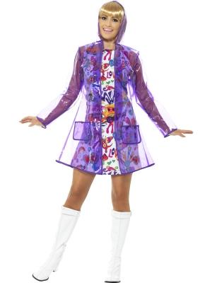 Дождевик 60-х, фиолетовый