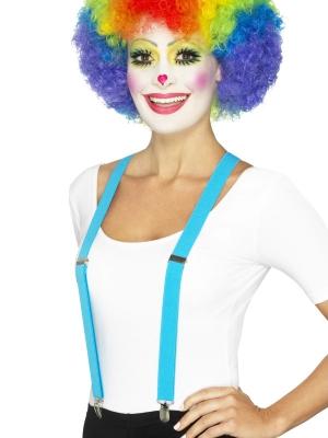 Подтяжки клоуна, синие