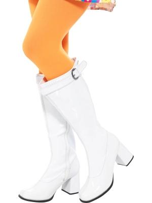 Ботинки GoGo, стиль 60-х, белые