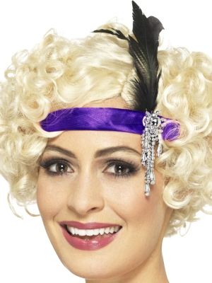 Retro stila galvas aksesuārs, violets