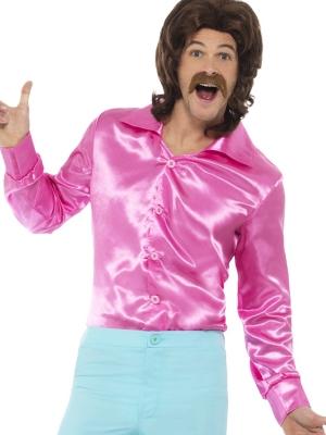 Рубашка 60-х, розовая