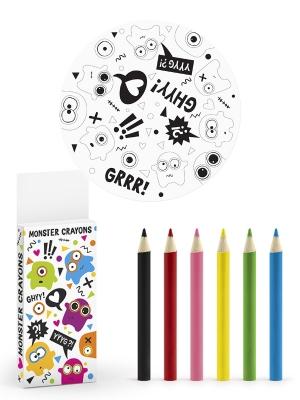 Krāsojamo lapu komplekts ar zīmuļiem