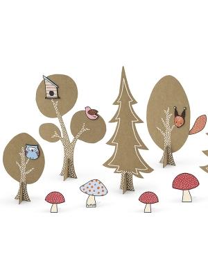 Kreativitātes komplekts Woodland, 2 paliktņi un 12 figūras