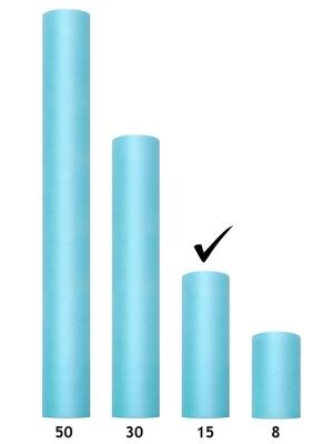 Tulle Plain, turquoise, 0.15 x 9m