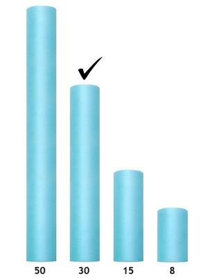 Tulle Plain, turquoise, 0.3 x 9m