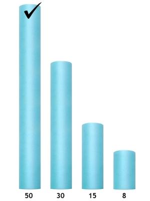 Tulle Plain, turquoise, 0.5 x 9m