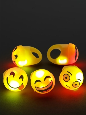 Flashing Cartoon Face Rings