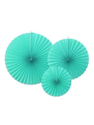 3 gab, Dekoratīvās rozetes, tifānija zila, 40, 32, 23 cm