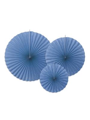 3 gab, Dekoratīvās rozetes, rudzupuķu zilas, 40, 32, 23 cm
