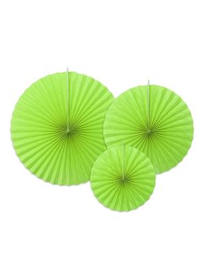 3 gab, Dekoratīvās rozetes, gaiši zaļas, 40, 32, 23 cm