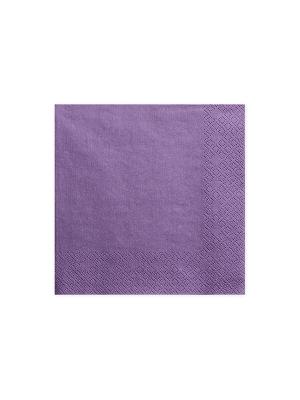 20 gab, Salvetes, violetas,  , 33 x 33 cm