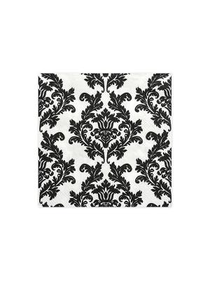 20 gab, Salvetes, baltas ar melnu rakstu, 33 x 33 cm