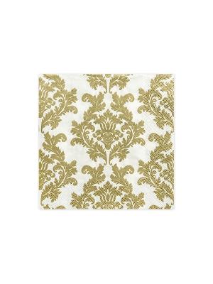 20 gab, Salvetes, baltas ar zelta rakstu, 33 x 33 cm