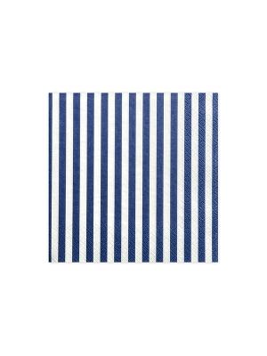20 gab, Salvetes svītrainas, balts ar zilu, 33 x 33 cm