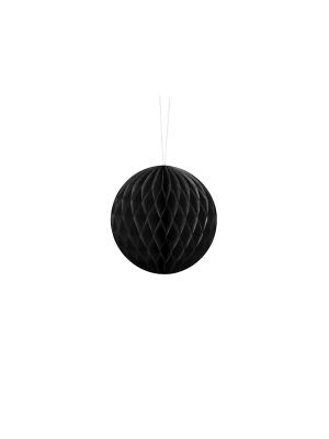 Papīra bumba, melna, 10 cm