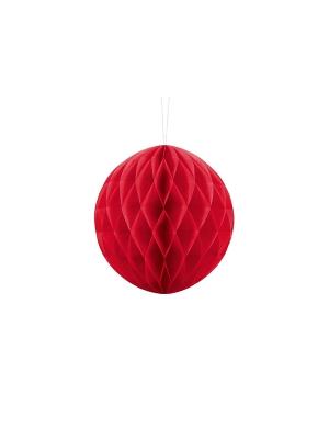 Papīra bumba, sarkana, 20 cm